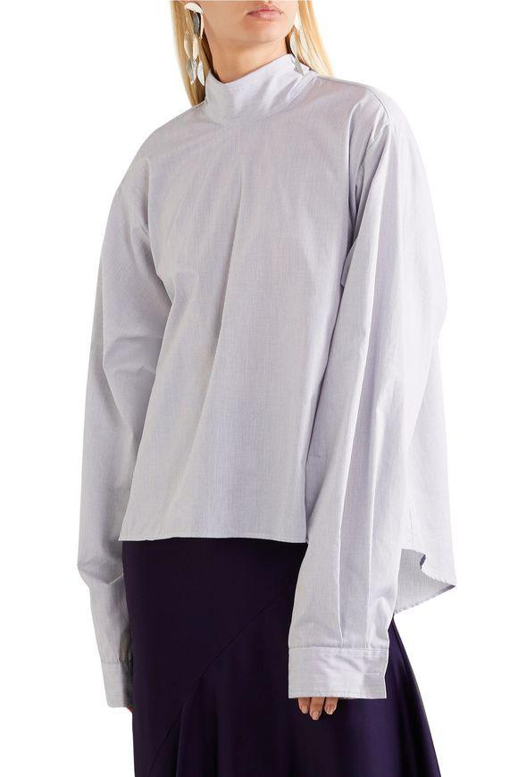 66bd351721d8 MM6 MAISON MARGIELA Oversized gingham cotton-poplin top