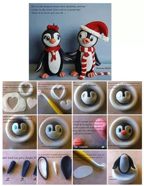 How to make fondant penguins