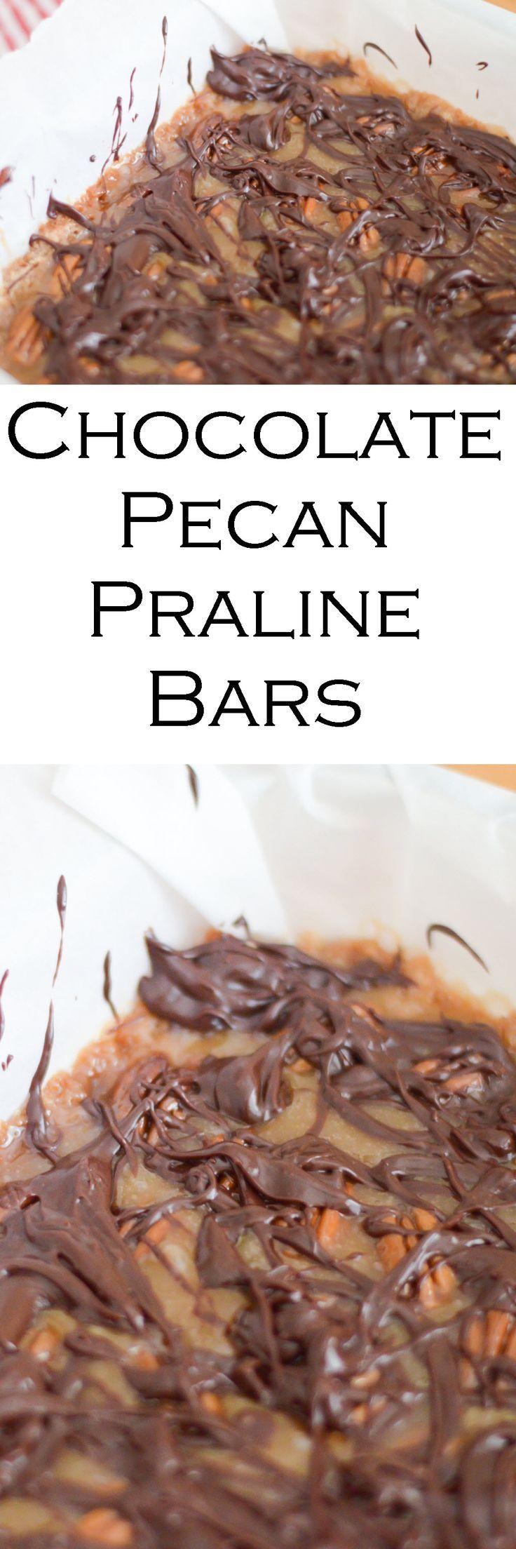Chocolate Pecan Praline Bars - Classic Southern Dessert
