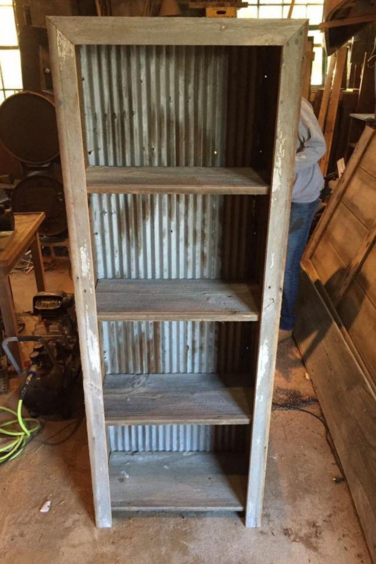 Make A Diy Barnwood Shelf Using Reclaimed Wood And Rusty Corrugated Metal Barn Wood Projects Diy Wood Projects Barn Wood