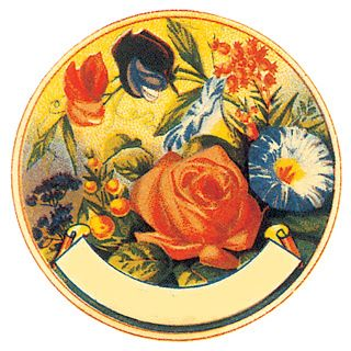 VintageFeedsacks: FREE Round Vintage Floral Banner Label