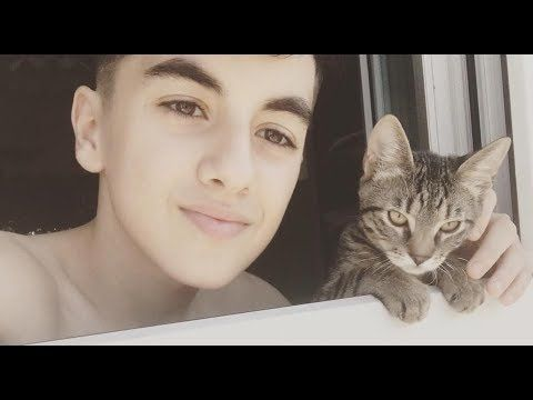 Omar - His cat life! (Funny video!) عمر مع قطته