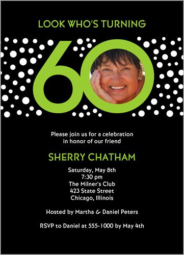 Look Who's 60 Birthday Invitation
