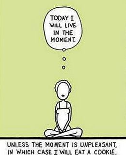 today i will live in the moment cartoon