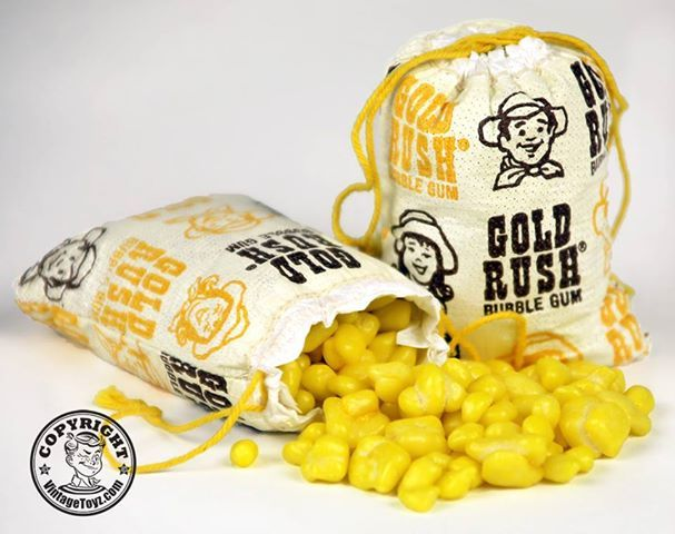 1970's toys   Photo: 1970's Gold Rush Bubble Gum by Topps I used to get this at Jam & Jelly