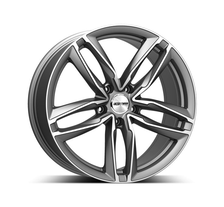 Atom Anthracite Diamond Professional Alloy wheel / Cerchio in lega professionale Atom Antracite Diamantato Side