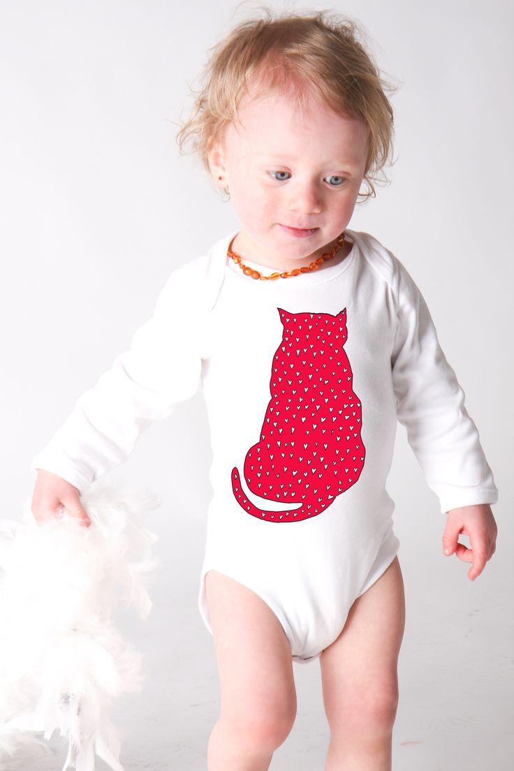 Kočičák Silvestr, body dlouhý rukáv Dětské body - bílé, dlouhý rukáv, kvalitní 100% bavlna,  digitální barevný zdravotně nezávadný tisk