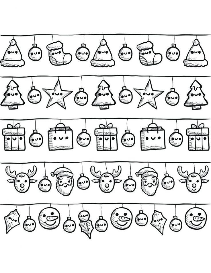 banderoles de noël à dessiner gratuit Plus