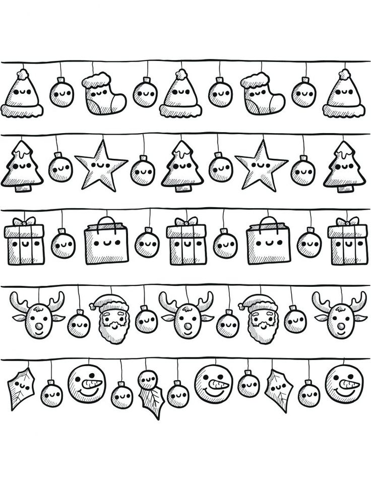 banderoles de noël à dessiner gratuit