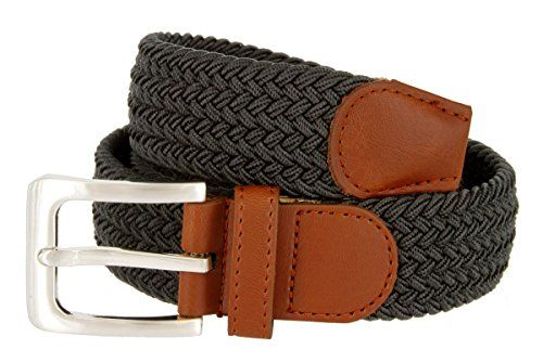 dbd5ca4cab6 Braided Elastic Fabric Woven Stretch Belt Leather Inlay Multi Color Options   belts  accessories