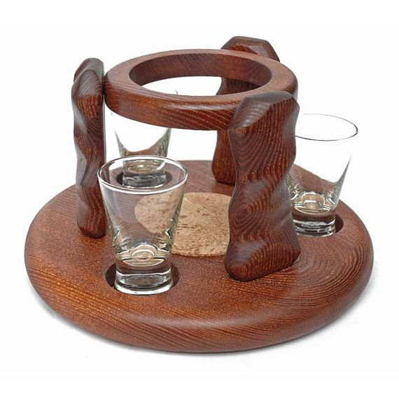 Exclusive Wooden Mini Bar STONE For Vodka or от Tobaccopipesshop