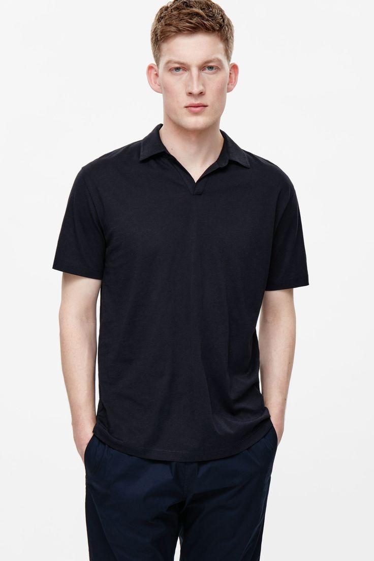 Open-neck polo shirt