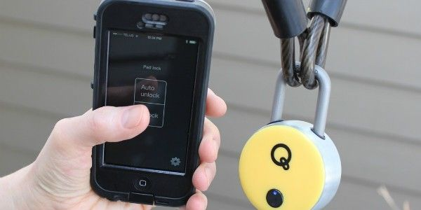 High tech security. The Bluetooth Padlock opens using a smartphone app (iOS or Android) or using an NFC activated key cards . The Padlock is durable and weather resistant. Secure bikes, gates, lockers, tool boxes and more. Connect via Bluetooth to unlock.