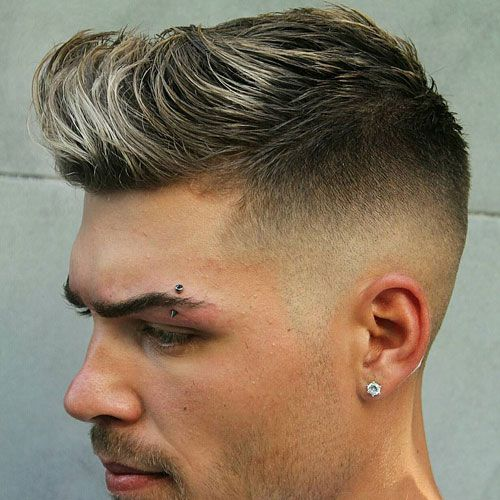 Skin Fade with Quiff and Brush Up