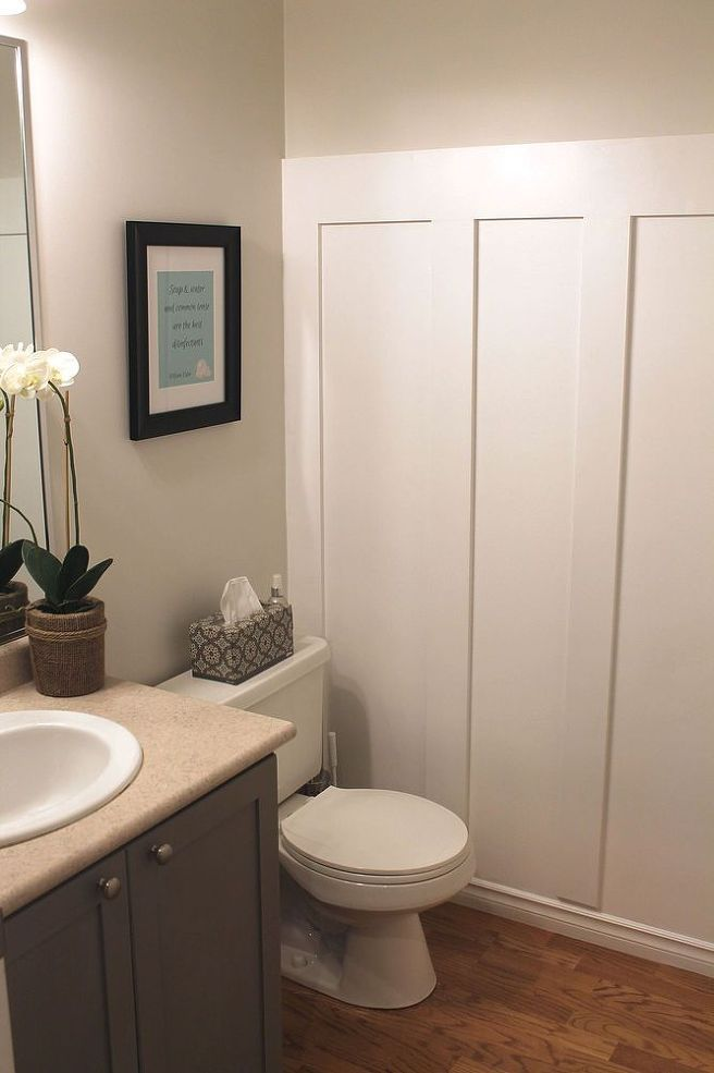 12 best water closet project images on pinterest for Small bathroom updates