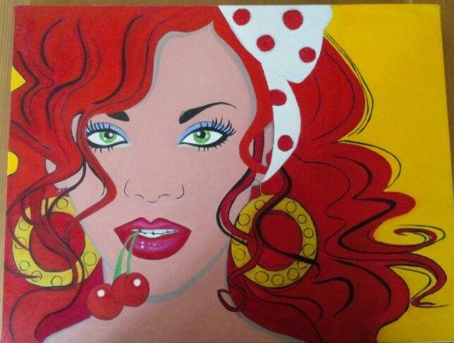 Pop art painted by mina lee.