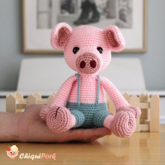 Gus, crochet piglet pattern | Son's Popkes | 570x570