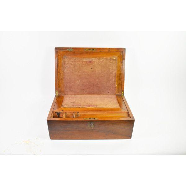 Antique Writing Desk, Antique Lap Desk, Vintage Travel Desk, 1800u0027s... Wooden  Storage ...