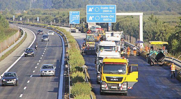 Pin auf Autobahn A 26