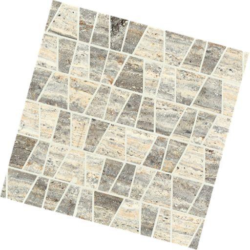 Castle Pyramid Silver Marble Mosaic