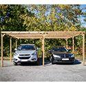 Carport double bois pour 2 voitures 30mc 5060