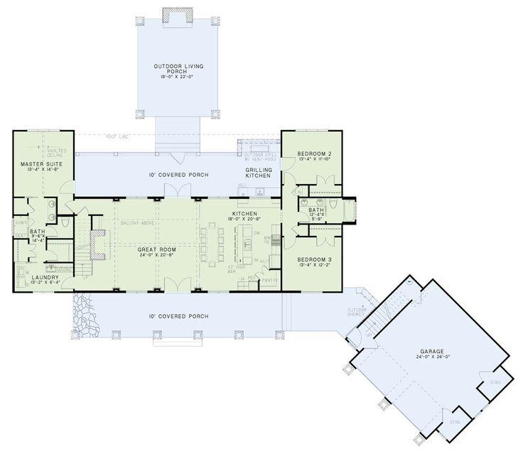 attractive nelson house plans #2: Nelson Design Group u2013 House Plans, Design Services, Home Plans Angleru0027s  Lodge u2013 Nelson