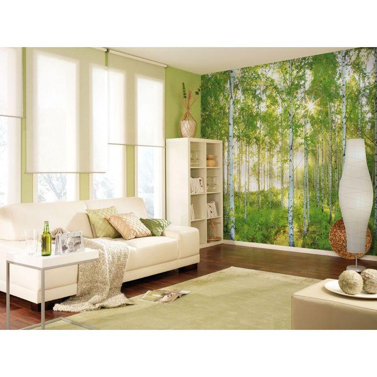 Forrest wallpaper - giv din stue, soveværelse eller børneværelset et nyt look med smukt foto tapet - http://www.bauhaus.dk/farve-bolig/tapeter/fototapet/fototapet-sunday-komar.html