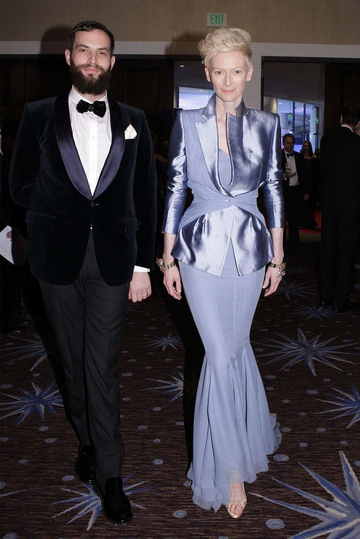 Sandro Kopp and Tilda Swinton at the Golden Globe Awards, January 2012.