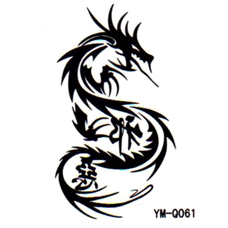 male female tribal arm tattoo stickers factory wholesale dragon ...