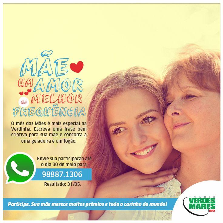mensagem dia das mães | ... Verdes Mares promove premiação para o Dia das Mães no mês de maio
