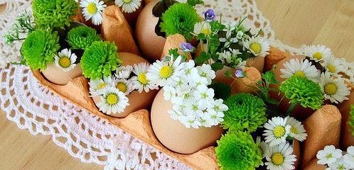 Eiervasen für Blumen