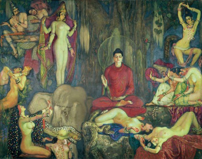 Las tentaciones de Buda, Eduardo Chicharro