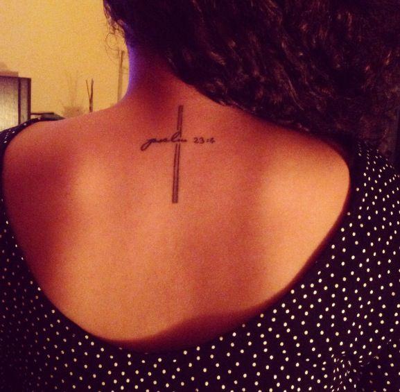 My cross tattoo! It says psalm 23:4                                                                                                                                                                                 More