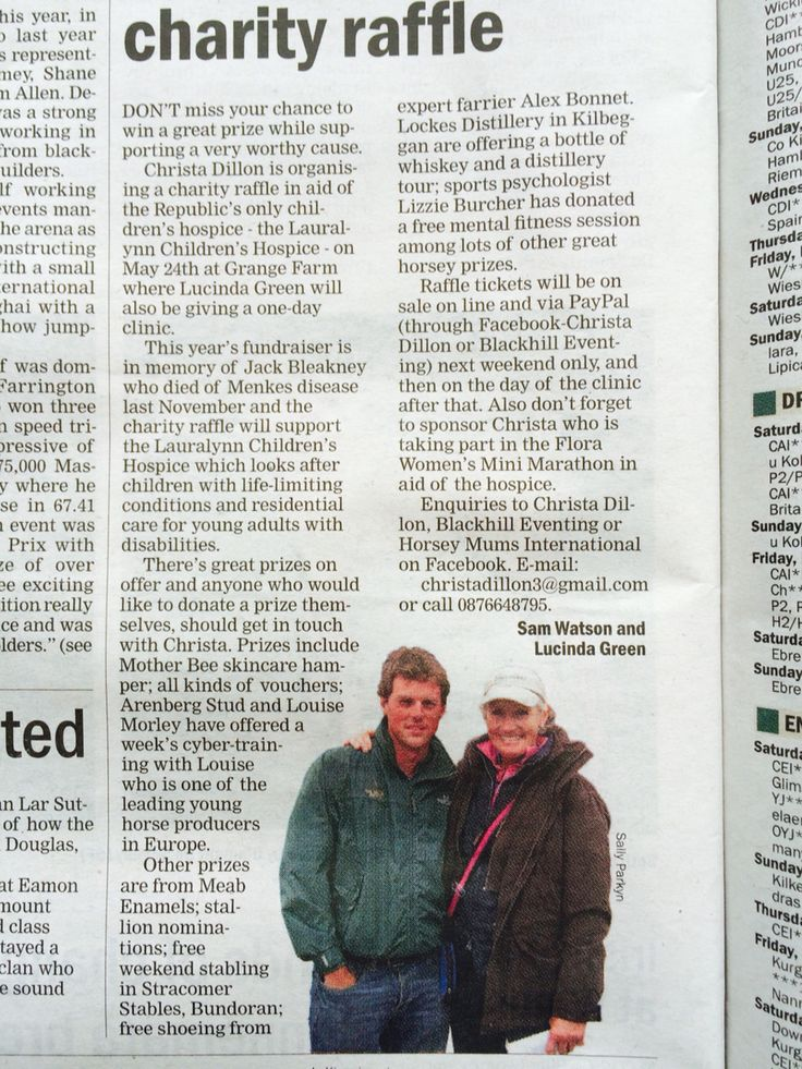 Irish Field write up for Lauralynn raffle May 2015