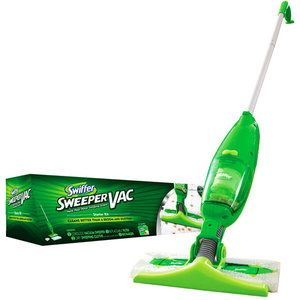 I recommend the Swiffer Sweeper Vac to everyone with wood or tile floors.  Make sure it's the one with the vacuum which picks up the things the cloth leaves behind.