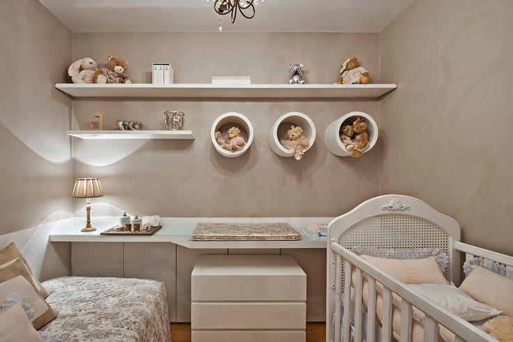 Quarto de bebê menina decorado com ursinhos e cor rosa - lindo! - Decor Salteado - Blog de Decoração e Arquitetura