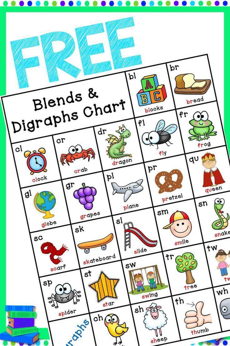 Blends & Digraphs Chart FREE Digraphs chart
