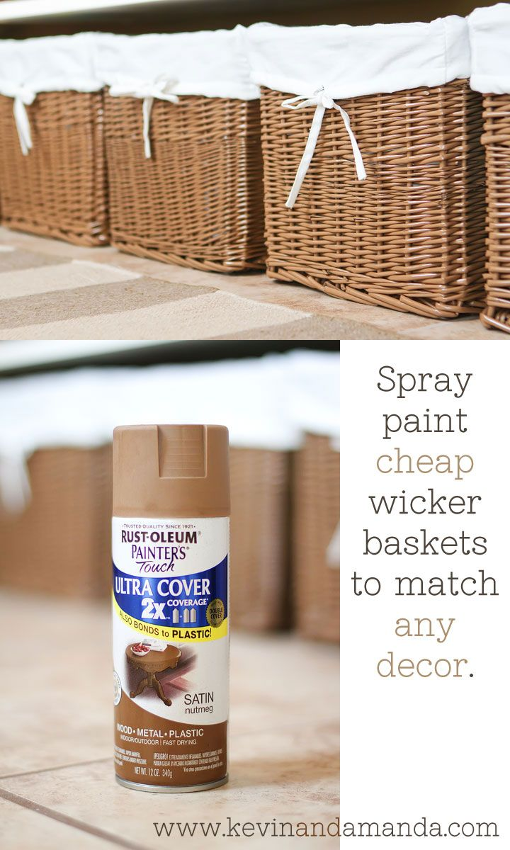 25 Great Ideas About Spray Paint Wicker On Pinterest