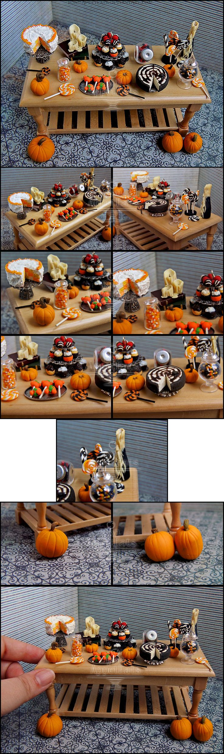 1:12 Halloween Table Details by Bon-AppetEats.deviantart.com on @deviantART