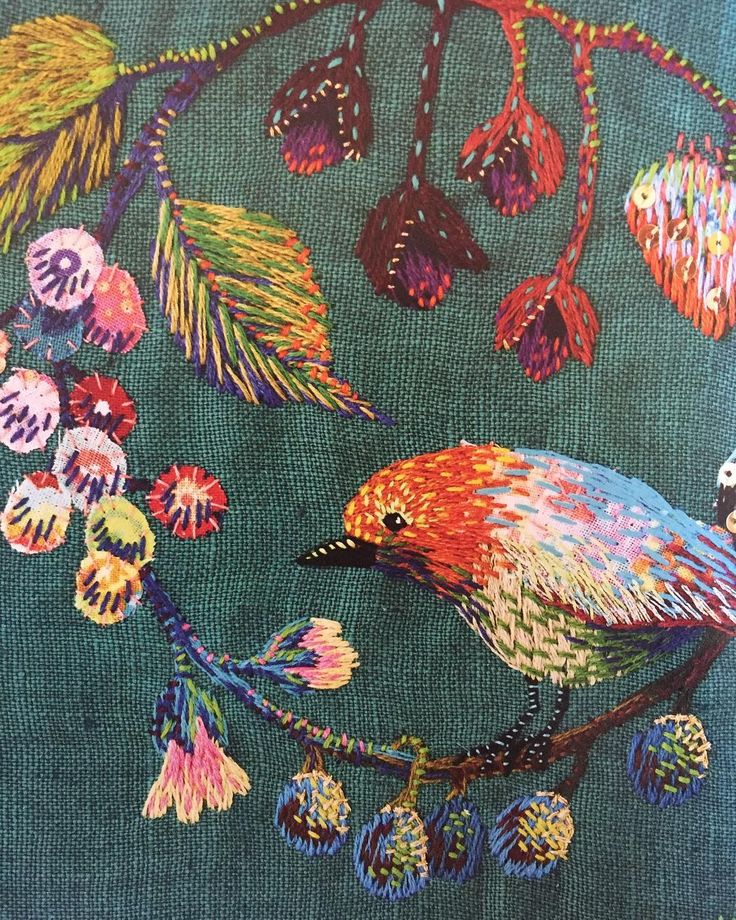 "4,260 Likes, 25 Comments - E M B R O I D E R Y (@embroidery) on Instagram: ""@kimikahara (from the Stitch Show book) • #embroidery #handembroidery #modernembroidery…"""