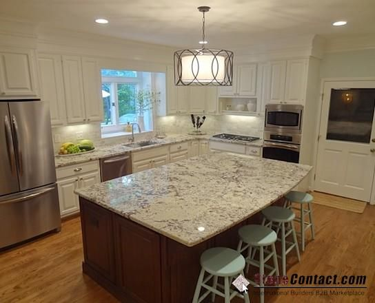 White ice granite kitchen concepts pinterest ice and granite Kitchen design brookfield ct