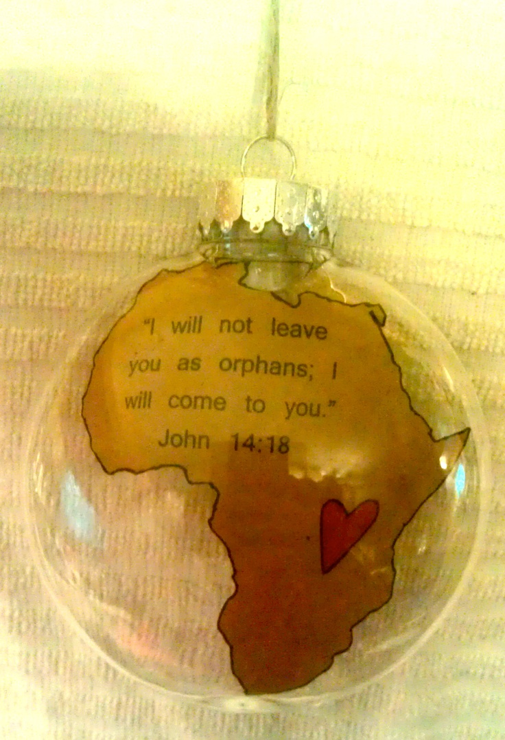 Christmas gift for my cousin who just got back from a mission trip to Ghana <3
