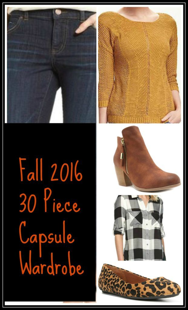 2016 Fall Capsule Wardrobe with printable pdf and shopping list with items under $100 www.midwesternmelissa.com