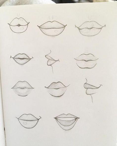 Das Zeichnen von Lippen übenScheint wie eine selt…