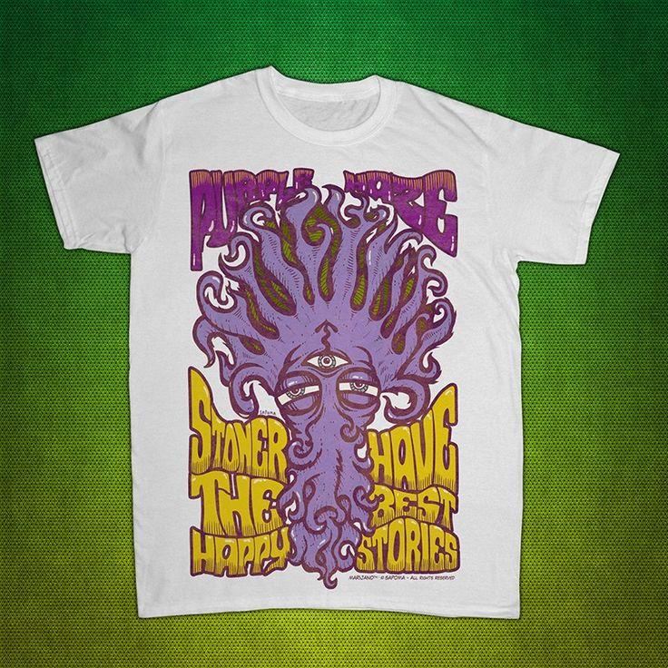 T-shirt Marijano modello PurpleHaze