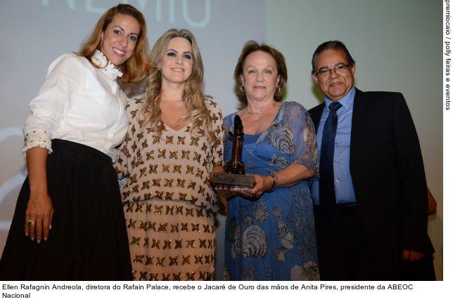 Rafain Palace Hotel recebe dois Jacarés no Prêmio Caio 2014 Este é sexto ano consecutivo que o Rafain Palace Hotel sai como um dos vencedores do Prêmio Caio.