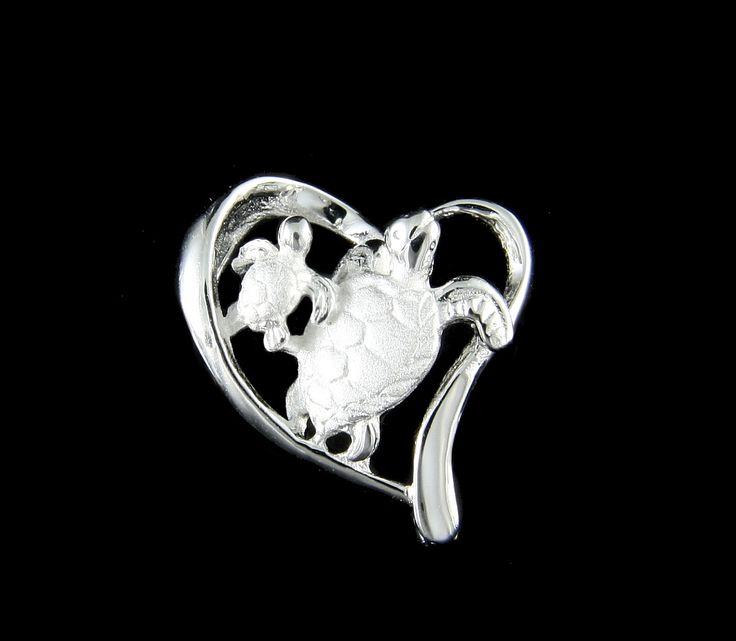 Brand new solid sterling silver (not plated, not bonded) 2 Hawaiian sea turtles in a floating heart slider pendant Each pendant weighs approx. 2.2grams and have