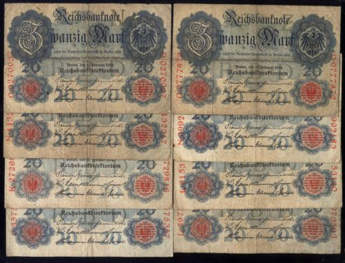 RARE Old Antique WWI German Government Reichsmark Bank Note Collection Money Lot | eBay