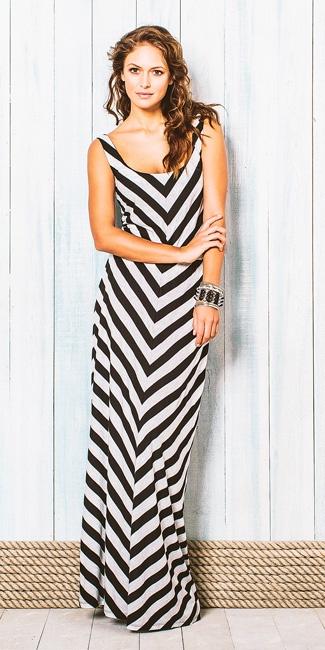 Tamara Chevron Dress @Chris Munroe