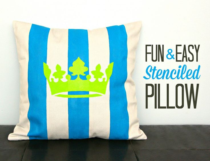 DIY Stenciled Pillow & 241 best Pillow Ideas images on Pinterest | Cushions Burlap ... pillowsntoast.com